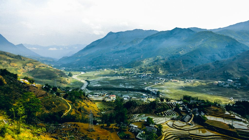 The view of rice terraced fields in Lao Chai and Ta Van village