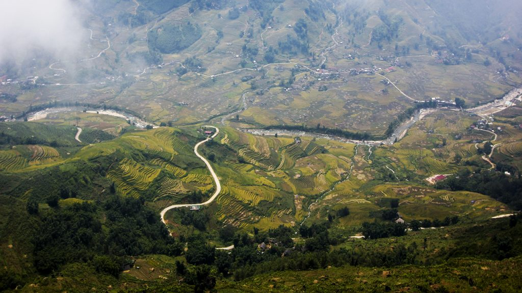 Trekking to mountain view in Sapa, Vietnam